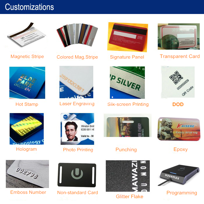 PVC Hico Magnetic stripe membership card with signature panel
