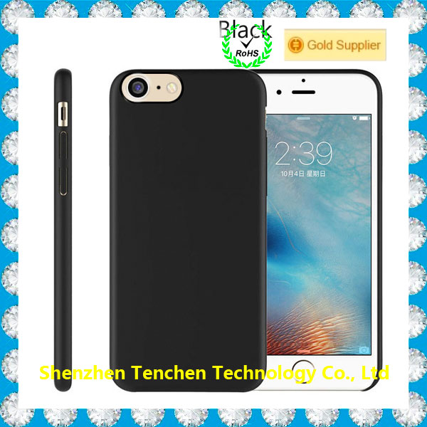 For iPhone 7 rubber coating matte plain hard case