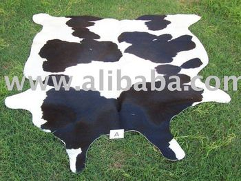 COWHIDE RUG, SKIN, LEATHER