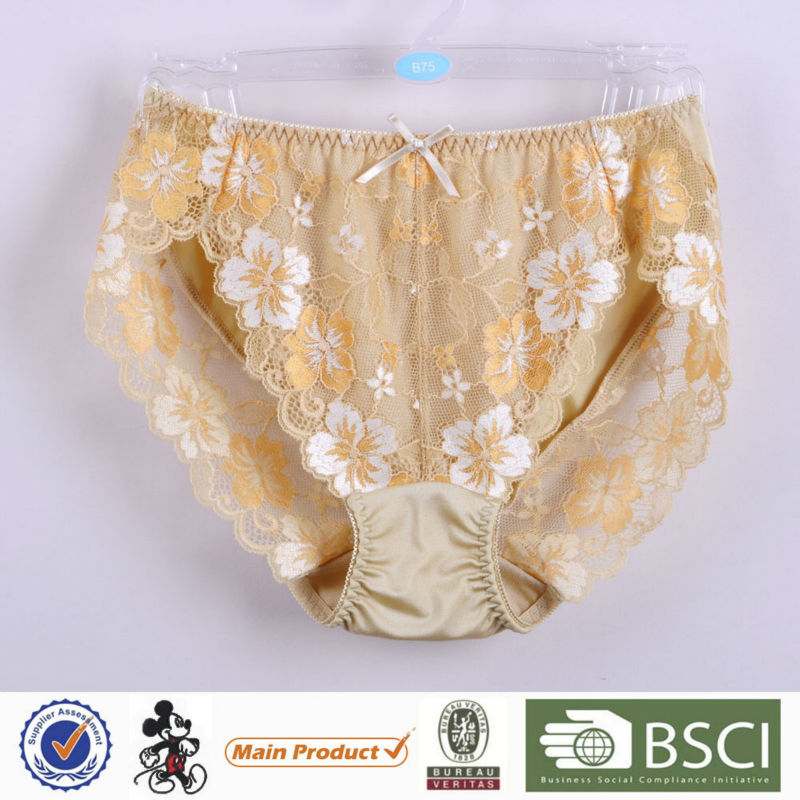 New Design Classical Mature Lady Boyshort Shiny Panties For Women