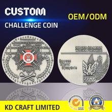 High quality custom metal bronze antique nickel plated 3D cross logo german collectible coins