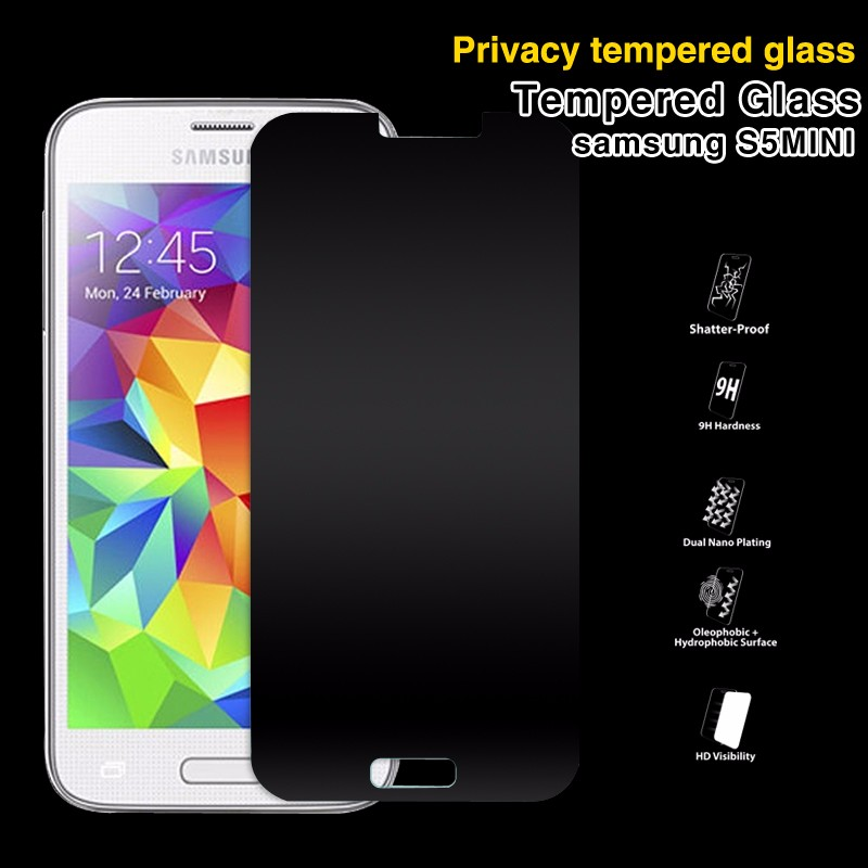 9H Anti-Peek 180 Degree Premium tempered glass privacy screen protector for samsung galaxy S3 S4 S5 mini S6
