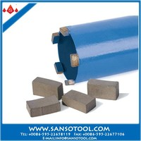Diamond core drill bits for reinforced concrete drilling