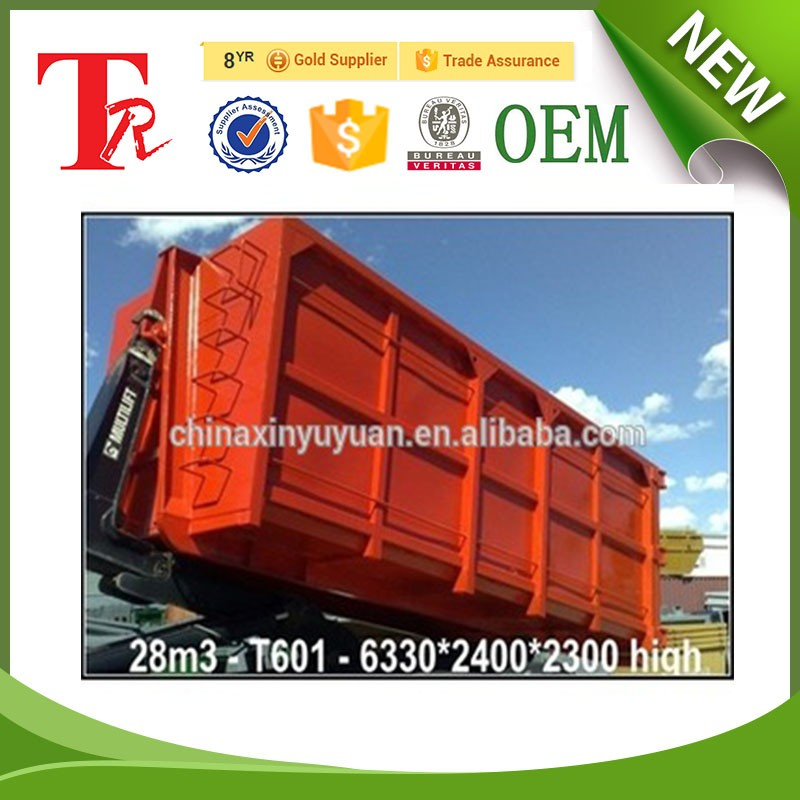 High Quality Metal Steel Skip Waste Garbage bin with wheels