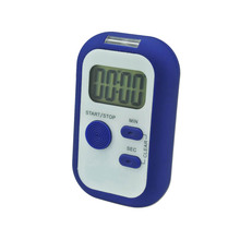 Small LED digital count up down timer with vibration reminder