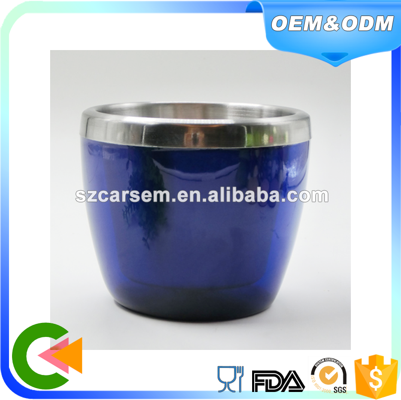 Latest technology plastic stainless steel ice bucket wine coolers with blue color