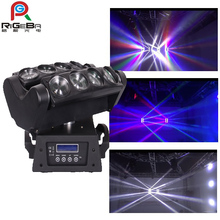 LED Spider Beam moving head Light 8*10W Double Line LED 10W WHITE