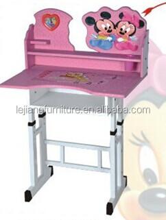 cartoon shape colorful school desk and chair A-26