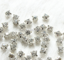 Crystal Silver Claw Sew on Rhinestone Stone SS30 6mm Strass Diamond Stones and Crystals for dresses Clothes decoration