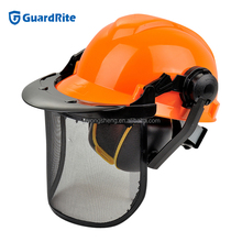 GuardRite Brand Good Quality Forestry Helmet Set And Forest Safety Helmet , Visor Earmuff Forestry Safety Helmet Set