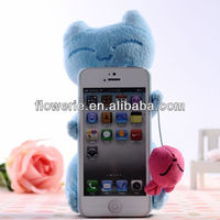 FL2924 2013 Guangzhou new arrival 3d animal fluffy cat phone case for iphone 5s