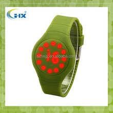 2015 new products 13 Colours Sports Simple Touch Led Watch Silicone