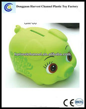 Promotional kid large piggy plastic coin ban/money saving box