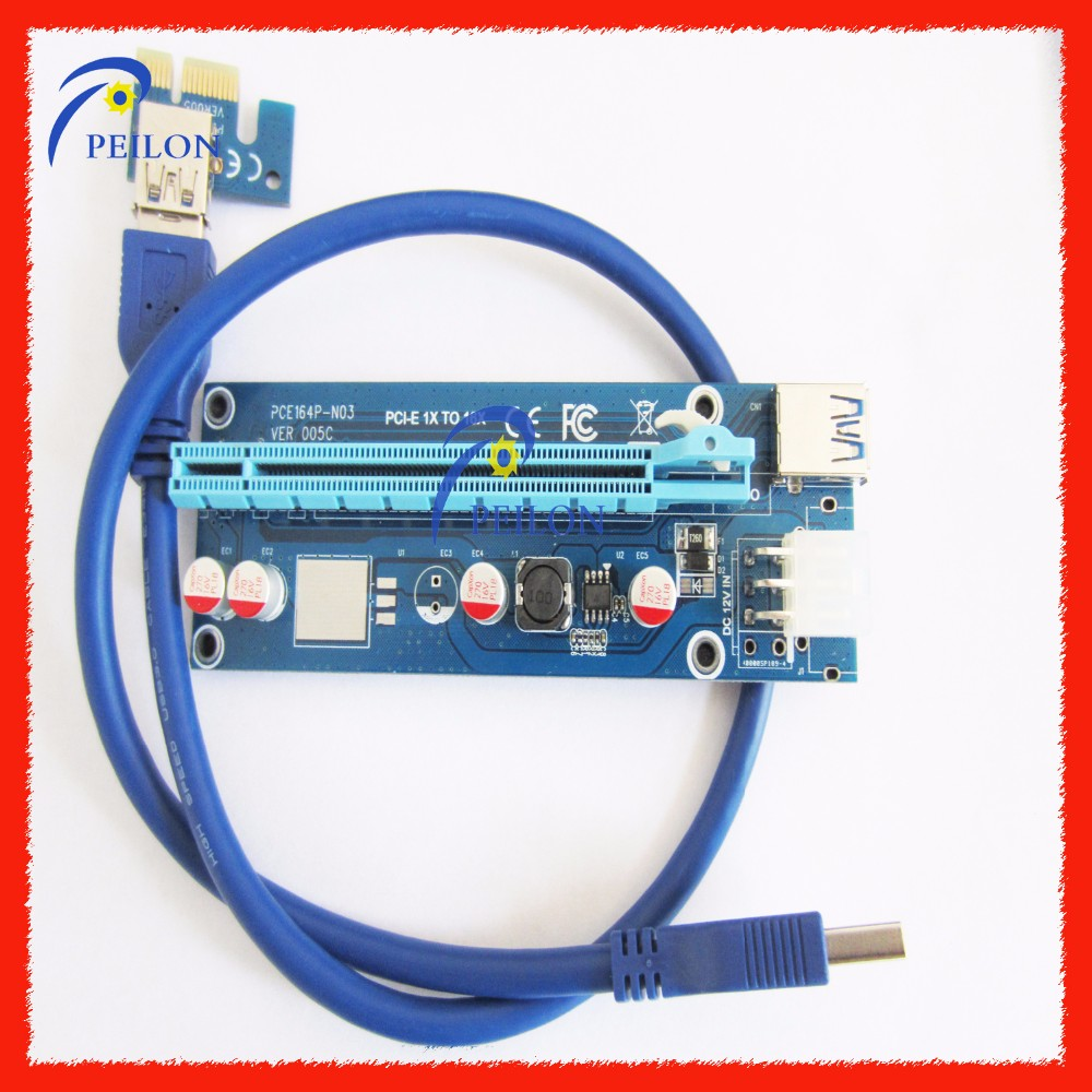 007s version pcie x16 riser card 60cm usb 3.0 for mining bitcoin pcie risers