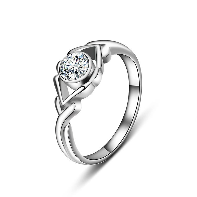 Italina Rigant brand fashion Valentine's Day Wedding Rings, platinum ring with diamond