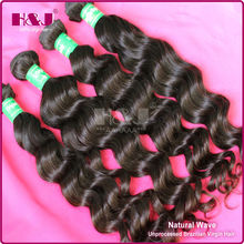 brazilian 100% natural human virgin unprocessed dream weave remi hair