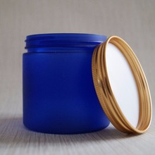 promotion 16 oz cobalt blue plastic jar for spirulina