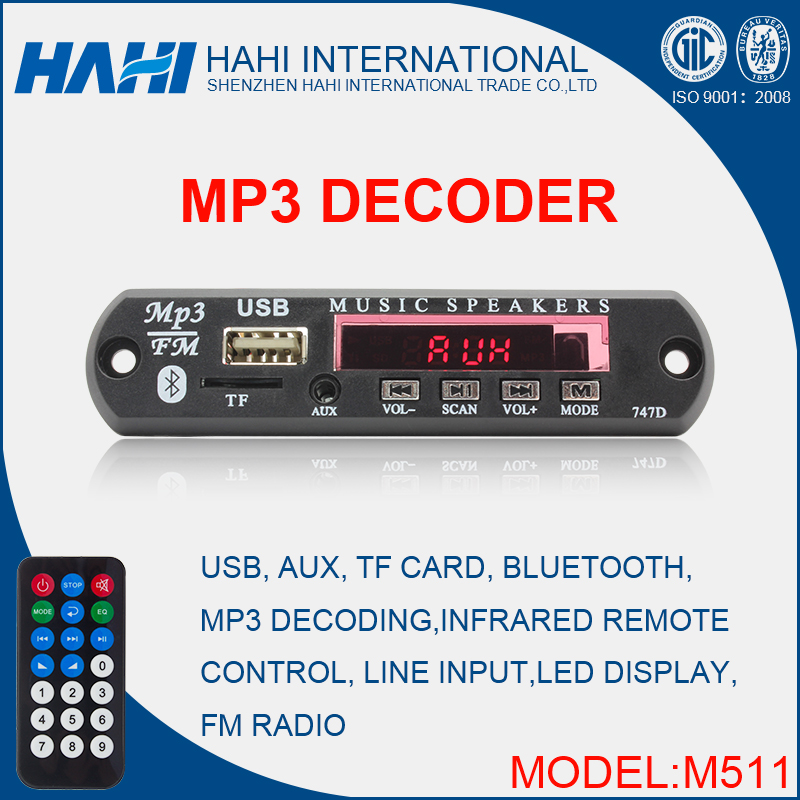 MP3 USB SD/TF Audio Player Decoder Chip