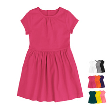 Wholesale Custom Print Cotton Fashion Children Kids Baby Girl Dress