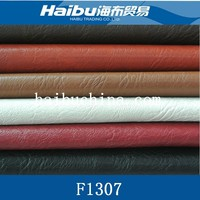 litchi grain pu leather material for handbag