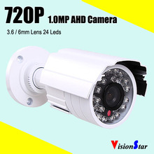 Most Popular color white ahd 1.0mp camera night vision 720p 1000tvl cctv system