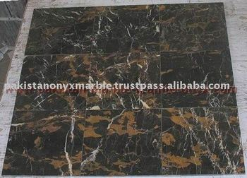 Black And Gold Marble (michel Angelo) Tiles