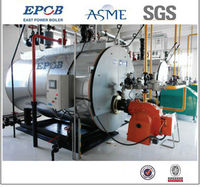 Natural gas hot water boiler with European gas burner (ASME, CE, ISO, SGS)