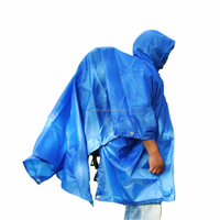 Foldable Waterproof Rain Long Poncho for Outdoor Sports Camping Travel