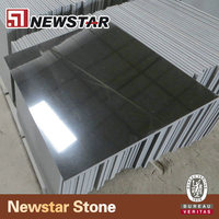 Polished china absolute black granite tile for sale