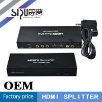 SIPU high end output multi media vga+ypbpr to hdmi converter best price hdmi splitter to av rca cable converter