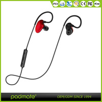 Bluetooth 4.1 stereo headphone sweatproof earhook sports earphone with MIC LED noise cancelling