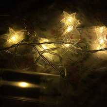 Star shaped LED string light LED copper wire string lights for outdoor, dimmable LED string