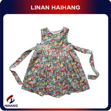 Hot sale casual baby sleeveless cotton frocks for girls