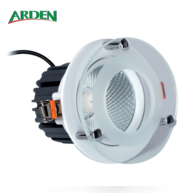 Cutout 140 - 145mm 38W 6Inch IP65 COB Recessed LED Downlight with Floating Glass