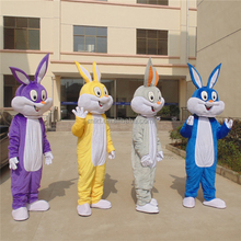 Wholesale online classic cartoon character adult Bugs Bunny mascot costume