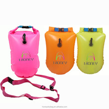 inflatable swim buoy safety dry bag waterproof float the buoy for swimmer swimming