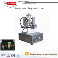 Ultrasonic Plastic Tube Tail Sealer Machine With Cutter