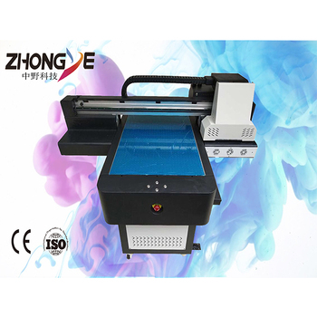Best price  UV A1 flatbed Zhongye mobile phone case cutter plotter machine DX5 XP600 wood  glass A3 small size UV ink printer
