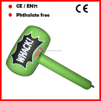 green color with custom log printing inflatable hammer toys for kids as promotional gifts