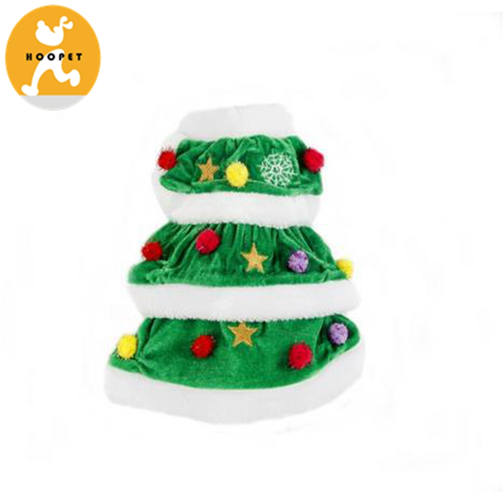 Christmas Tree Dog Coats Green Pet Apparel For Puppy Pets