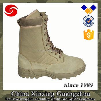 French 39-47 Size Sand color leather Military boots desert tactical boot