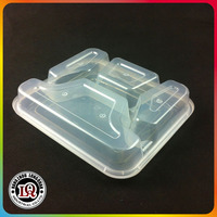 PP Plastic Clear Bento Lunch Box