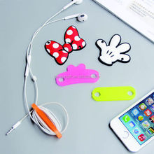 soft pvc earphone cable winder