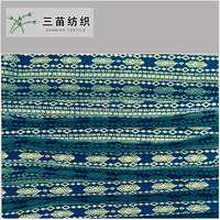 100 cotton tube yarn dyed chambray printed knit denim fabric