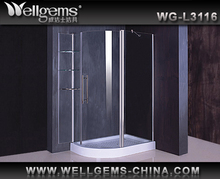 WELLGEMS curved glass shower enclosure L3116 Shower Room