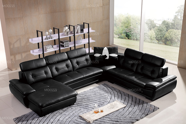 Extra long leather furniture big round sofa manufacturers in guangzhou