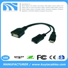 Micro Usb Host OTG Cable W/ Usb Power For Samsung Nexus 7 Galaxy S2/S3/S4,Galaxy Nexus, Samsung I9100 I9300 I9220 I925