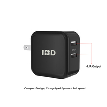 Travel Wall Charger ,Dual Port USB Wall Charger Universal AC Power Adapter with Foldable Plug for iOS Android
