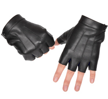 Unisex Fashion Fingerless Leather Gloves Cycling Gloves