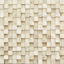 lander stone 20*20 travertine marble mosaic 3D design for fire place